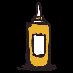 Brush stroke mustard bottle yellow icon