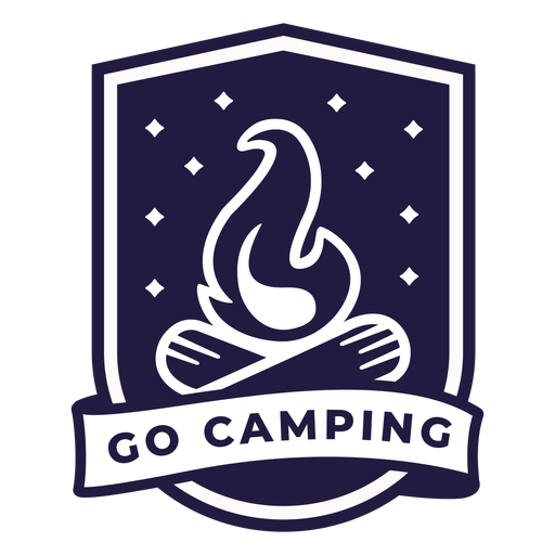 Campfire go camping shield badge Transparent PNG