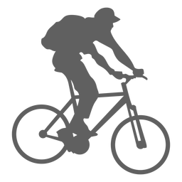 Carrier backpack cyclist silhouette