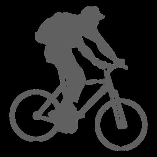 Mochila portadora ciclista silueta