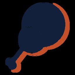 Icono de palillo de pollo tambor plano