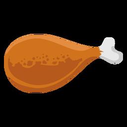 Muslo de pollo plano marrón