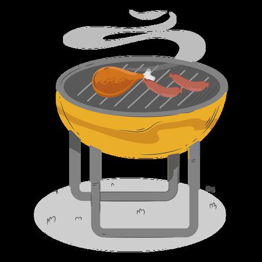 Chicken drumstick sausage bbq grill