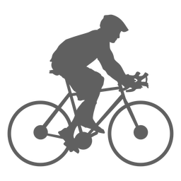 Niño mochila ciclista silueta