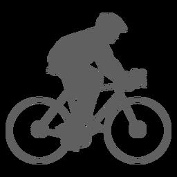 Silhueta de ciclista criança mochila