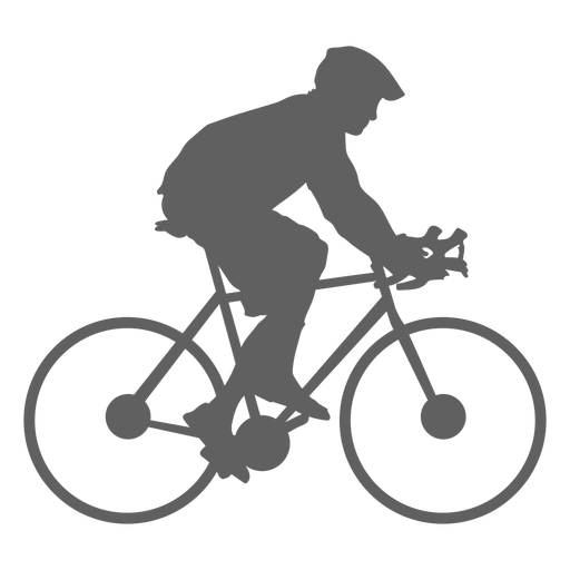 Child backpack cyclist silhouette