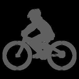 Silhueta de criança ciclista