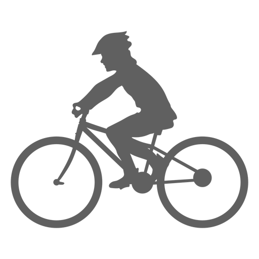 Child cyclist silhouette