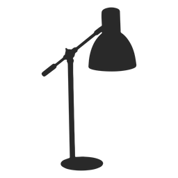 Classic desk reading lamp silhouette