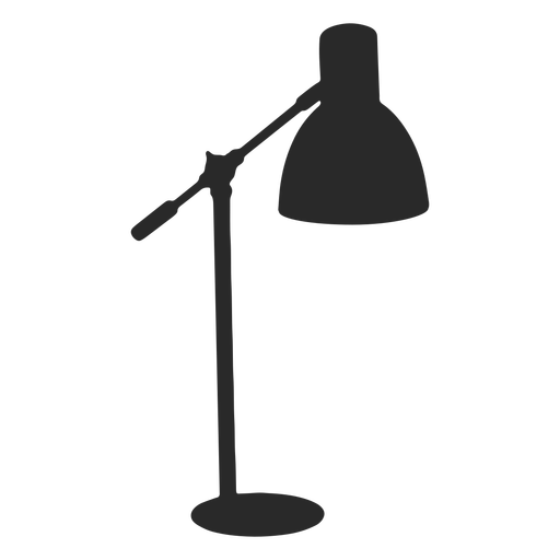 Classic desk reading lamp silhouette Transparent PNG