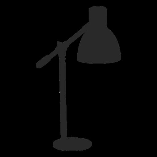 Classic desk reading lamp silhouette