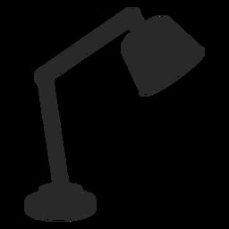 Silueta clásica de lámpara de escritorio de lectura