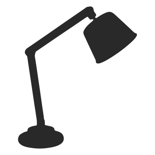 Classic reading desk lamp silhouette Transparent PNG