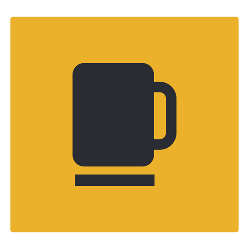 Coffee mug icon sign Transparent PNG