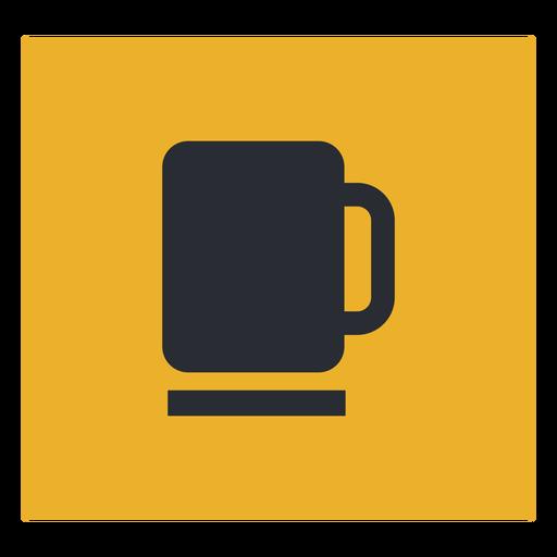 Signo de icono de taza de café Transparent PNG