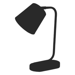 Cone desk reading lamp silhouette