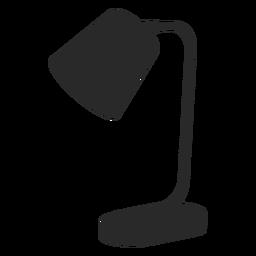 Cono de escritorio lámpara de lectura silueta