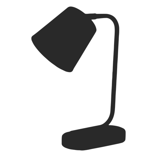 Cone desk reading lamp silhouette