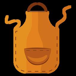 Avental de cozinha amarelo liso