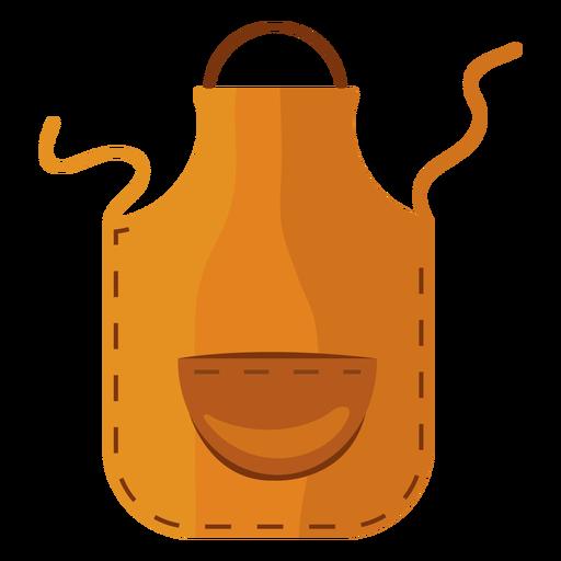 Cooking apron yellow flat