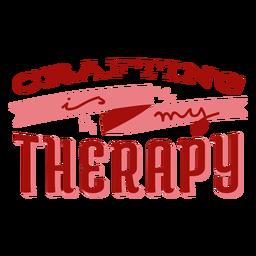 Elaboración artesanal de letras de terapia