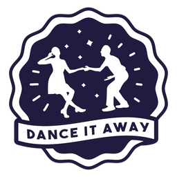 Dance it away couple badge