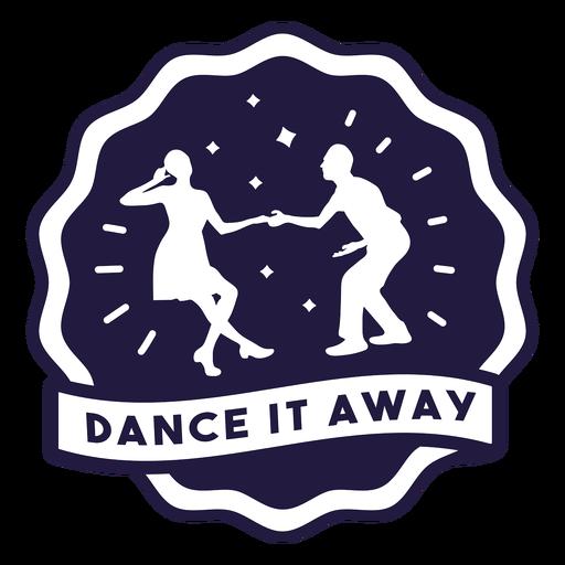 Dance it away couple badge