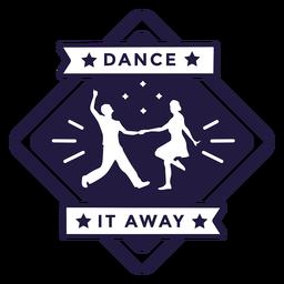 Baila lejos pareja bailando insignia de diamantes