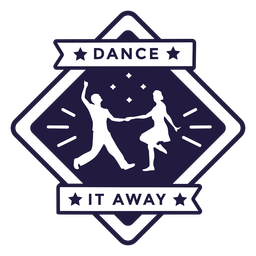 Dance it away couple dancing diamond badge