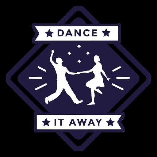 Dance it away couple dancing diamond badge