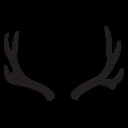Deer mule antler silhouette