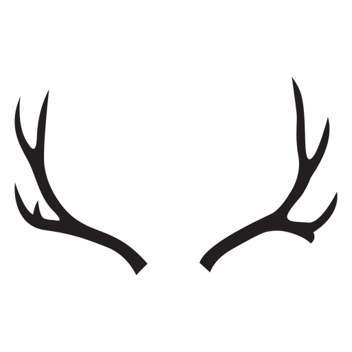 Silhueta de chifre de mula de veado