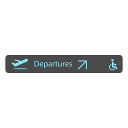 Departure airport sign icon