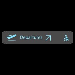 Icono de signo de aeropuerto de salida