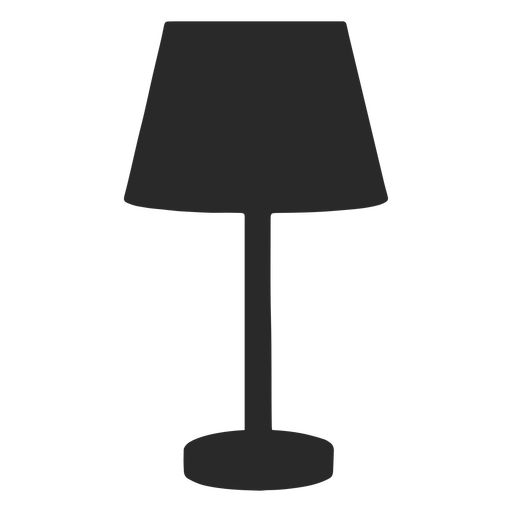 Desk reading lamp classic round silhouette Transparent PNG