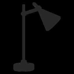 Desk reading lamp cone silhouette