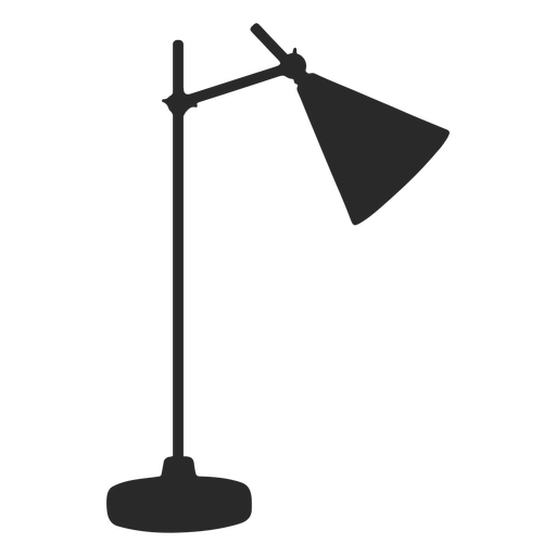 Desk reading lamp cone silhouette Transparent PNG