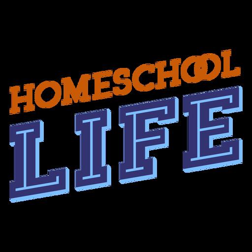 Letras diagonales de la vida en el hogar
