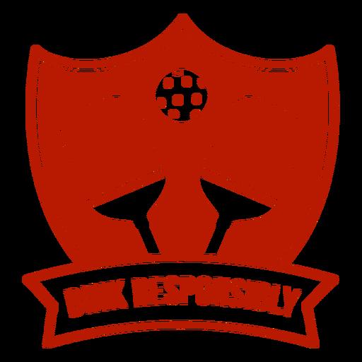 Dink responsablemente pickleball insignia