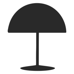 Dome desk reading lamp silhouette