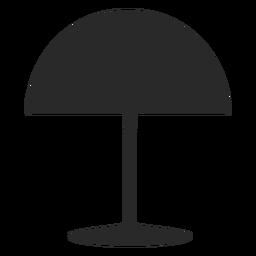 Silhueta de lâmpada de leitura de mesa cúpula