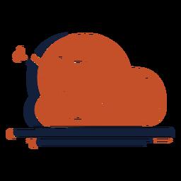 Pollo asado azul marrón duotono pavo