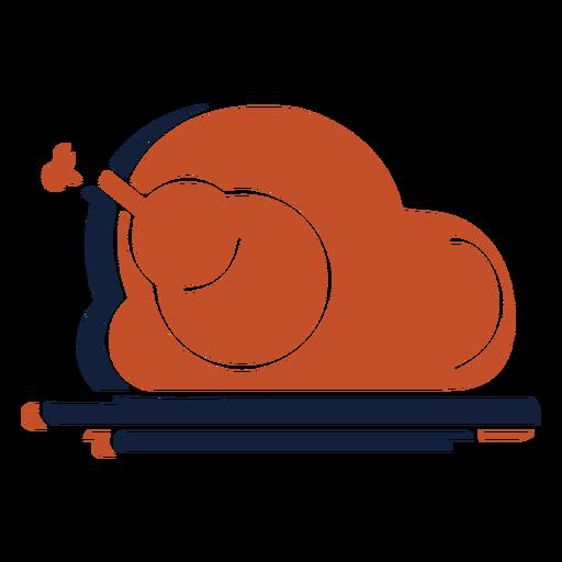 Duotono pavo asado azul marrón Transparent PNG