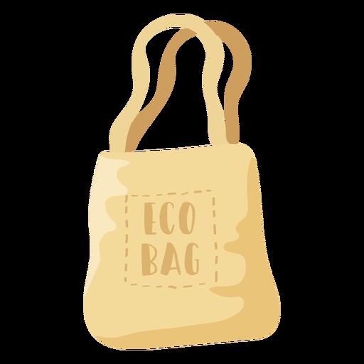 Eco bag beige shopping bag flat illustration