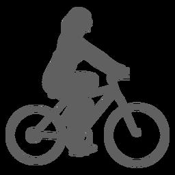 Silueta ciclista femenina