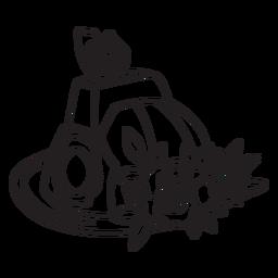 Esquema de sombrero de flor de mariposa de bombero