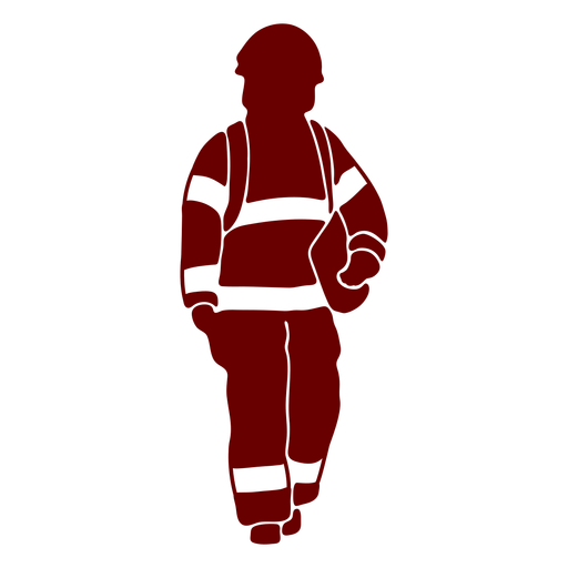 Firefighter front stencil Transparent PNG