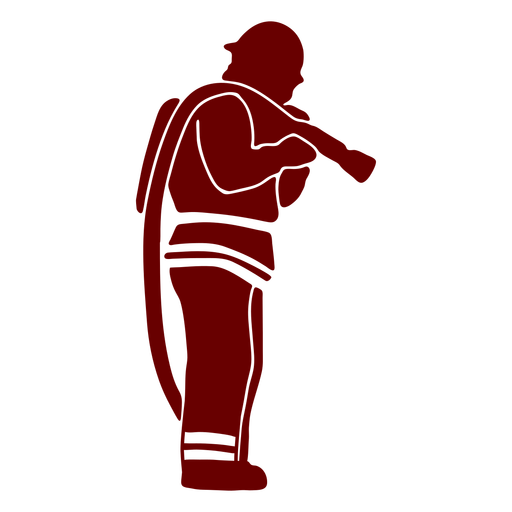 Firefighter hose profile stencil Transparent PNG
