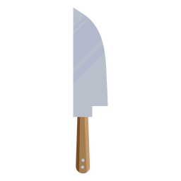 Símbolo de cuchillo plano marrón