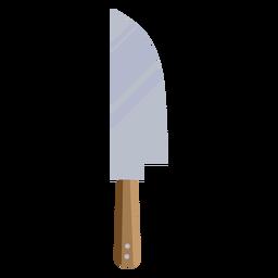 Símbolo de faca marrom plana